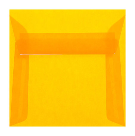 transparent orange 17 cm x 17 cm